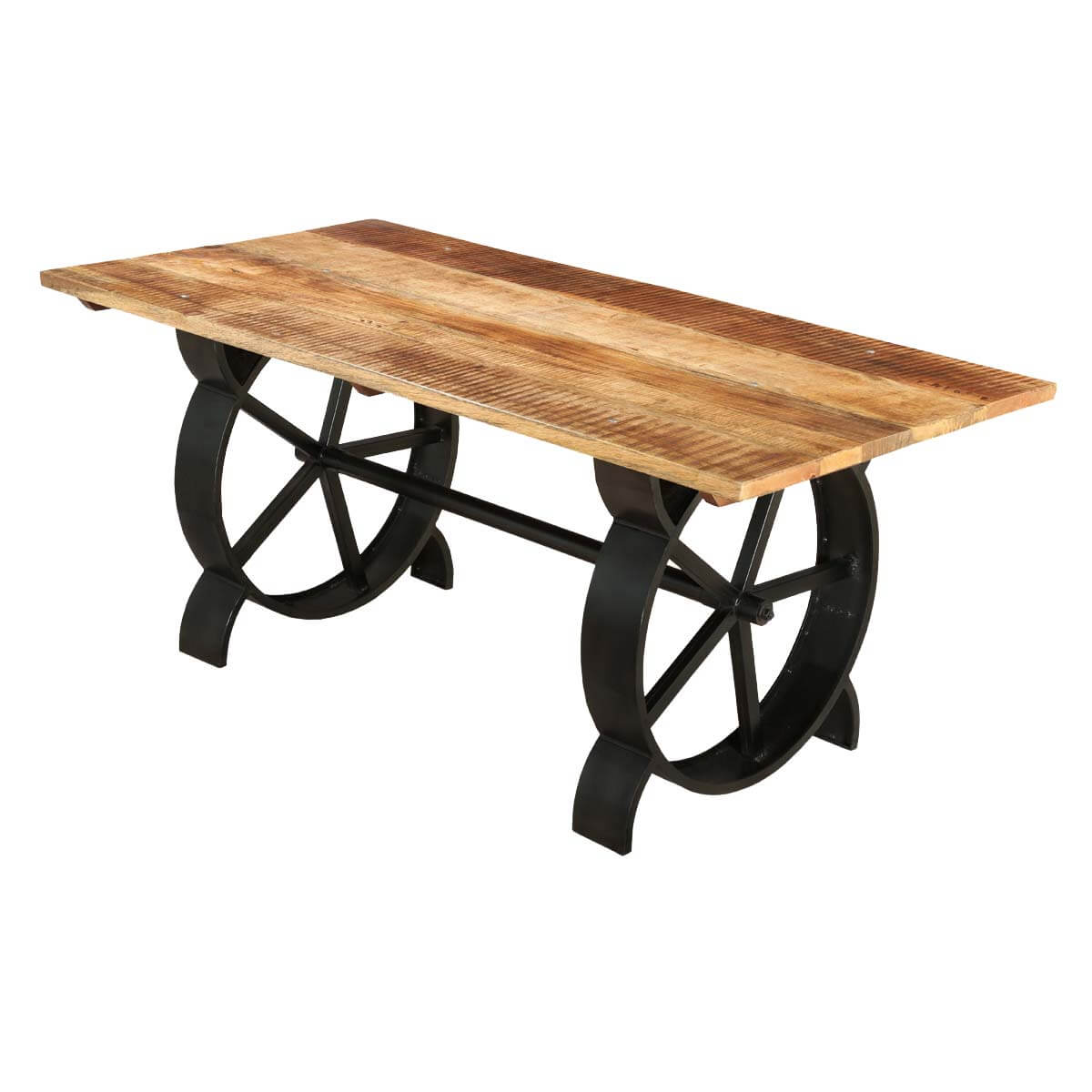 Virginia contemporary handcrafted iron and mango wood for Mango wood dining table