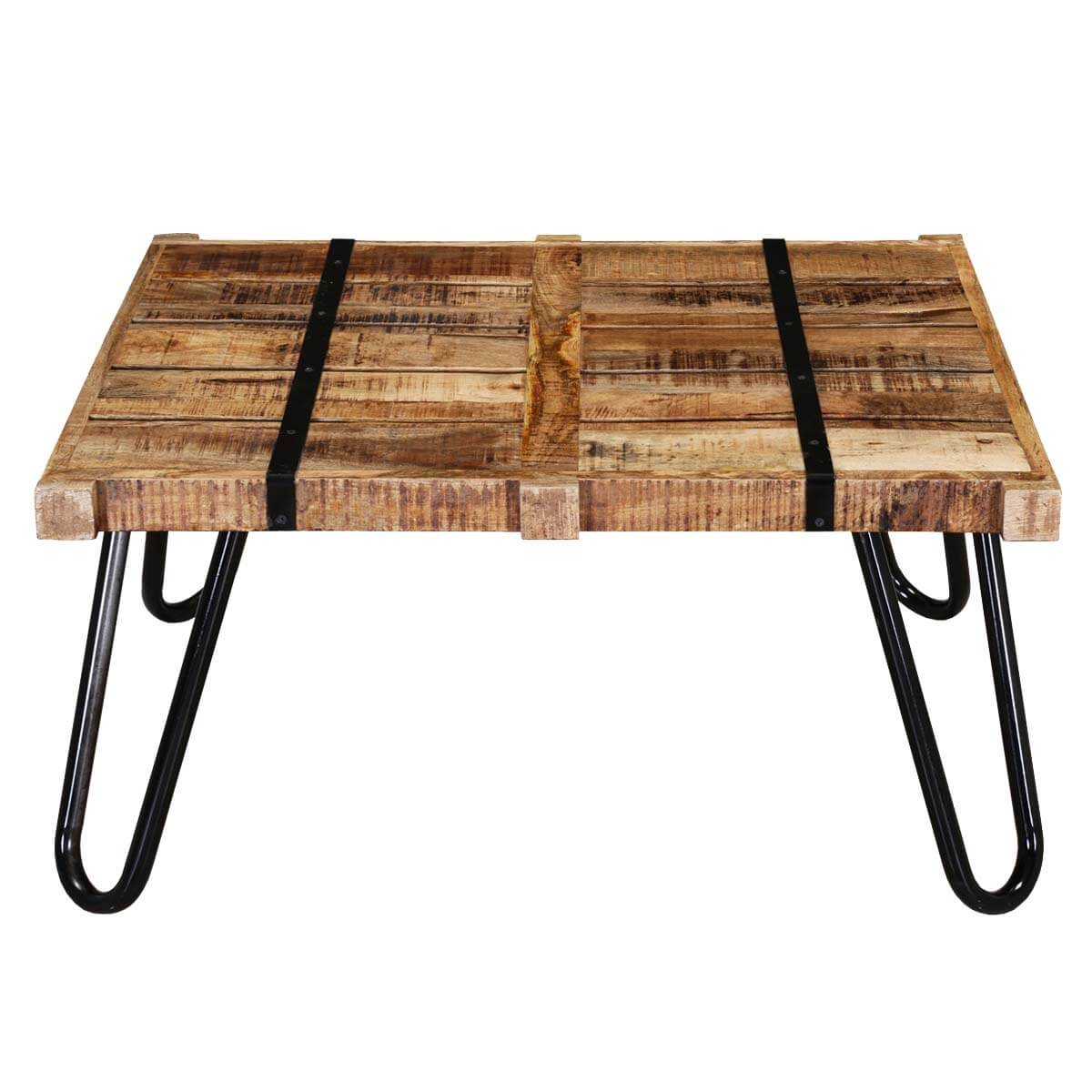 regis solid mango wood industrialized accent rustic coffee. Black Bedroom Furniture Sets. Home Design Ideas