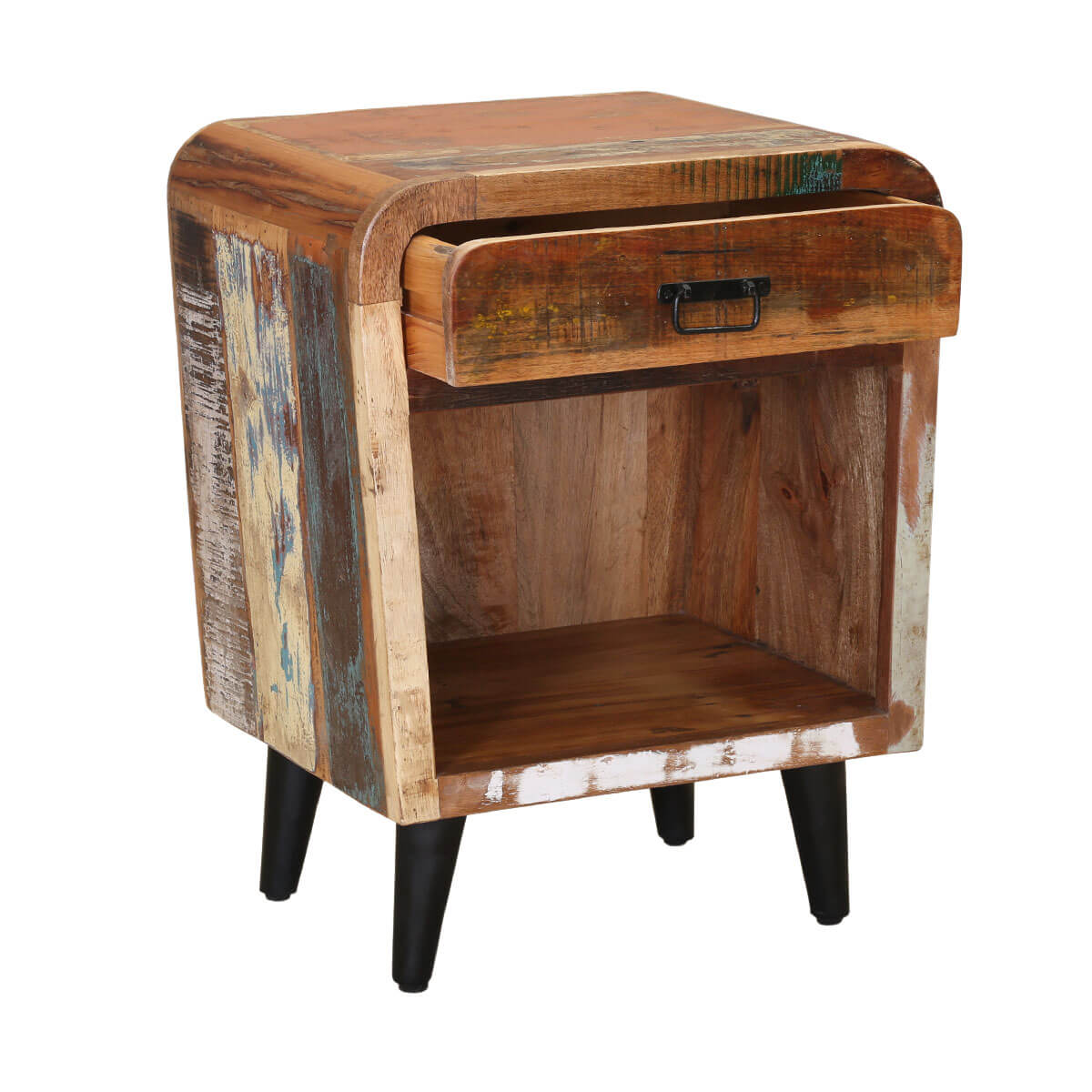 Hollywood reclaimed wood drawer bedside nightstand
