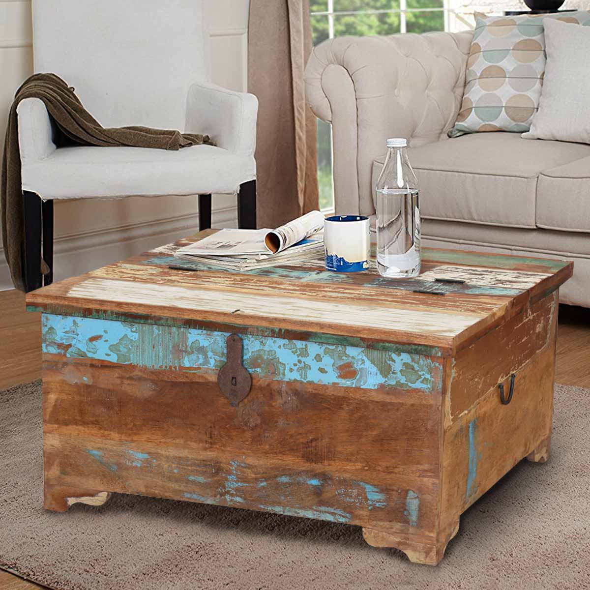 Appalachia Handcrafted Reclaimed Wood Coffee Table Trunk