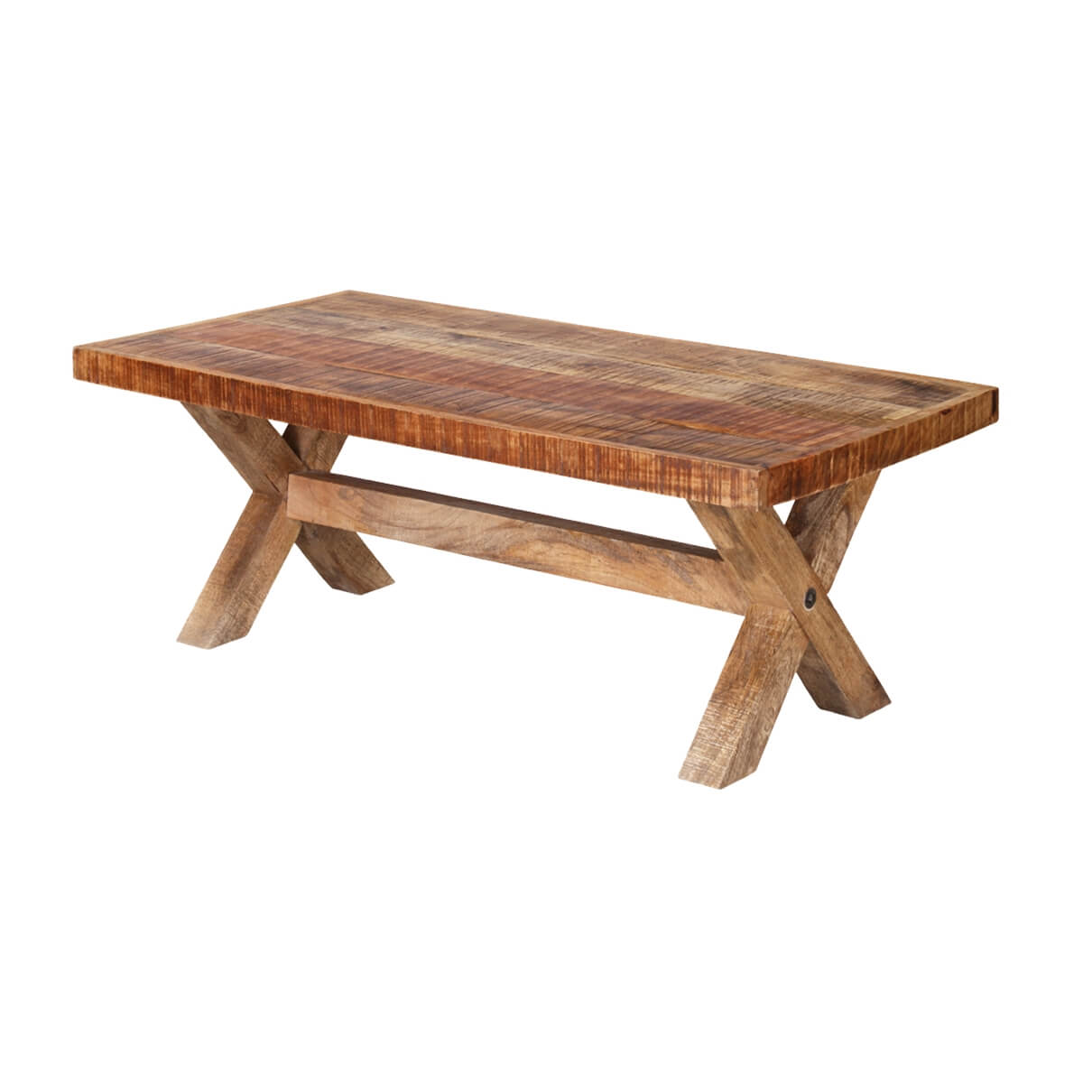 Picnic Style 47 Mango Wood Rustic Coffee Table