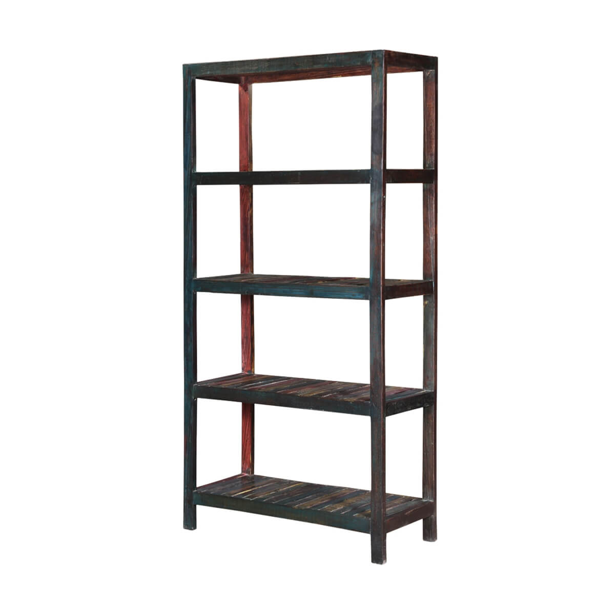 telluride 71 handcrafted reclaimed wood open concept bookcase