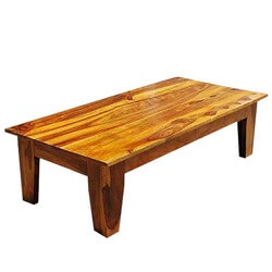 Appalachian Low Height Traditional Rustic Coffee Cocktail Table