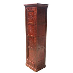 "Boston Harmony 71"" Hand Carved Floral Armoire"