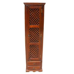 Solid Wood Lattice Armoire Multimedia Cabinet