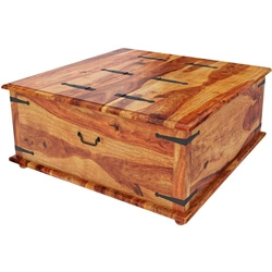 Large Square Storage Blanket Box Trunk Coffee Table