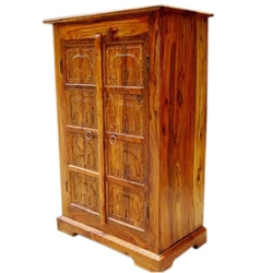 Solid Wood Kitchen Corner Storage Armoire Cabinet New