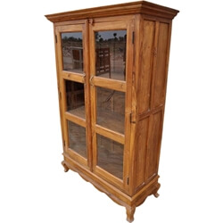 Lincoln Study Solid Wood Glass Door Bookcase