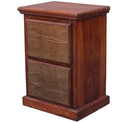 Mission Indian Rosewood 2-Drawer Nightstand End Table