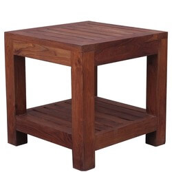 Mission Square Indian Rosewood 2-Tier Cocktail End Table