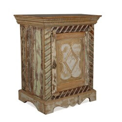 Dutch Provincial Reclaimed Wood Night Stand End Table Cabinet