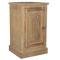 Sun Bleached Reclaimed Wood Night Stand End Table Cabinet