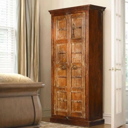 "Gothic Gates Reclaimed Wood 76"" Tall Armoire Cabinet"