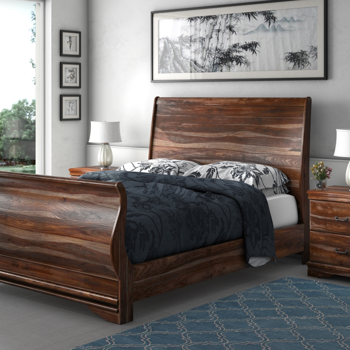 introducing new solid wood bed collection at sierra living concepts. Black Bedroom Furniture Sets. Home Design Ideas