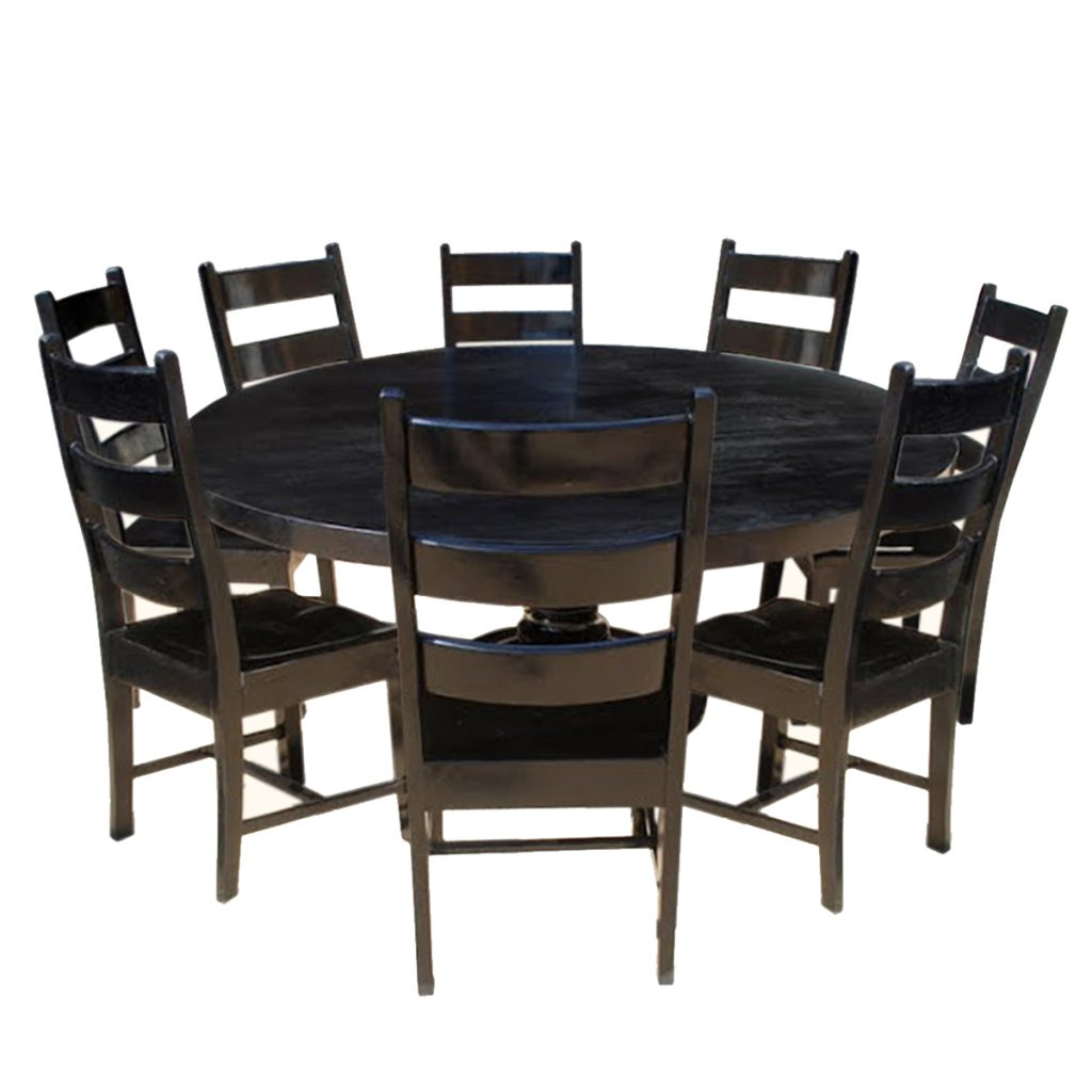 Round Solid Wood Dining Table: Stylish Banquet Tables From Rustic To Modern