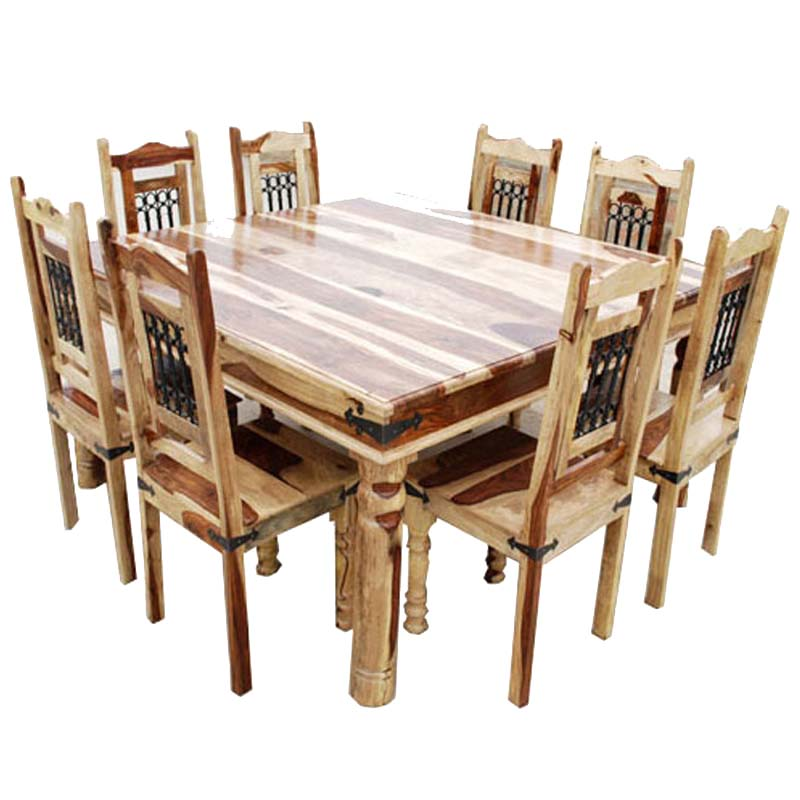 Solid Wood Dallas Square Dining Table
