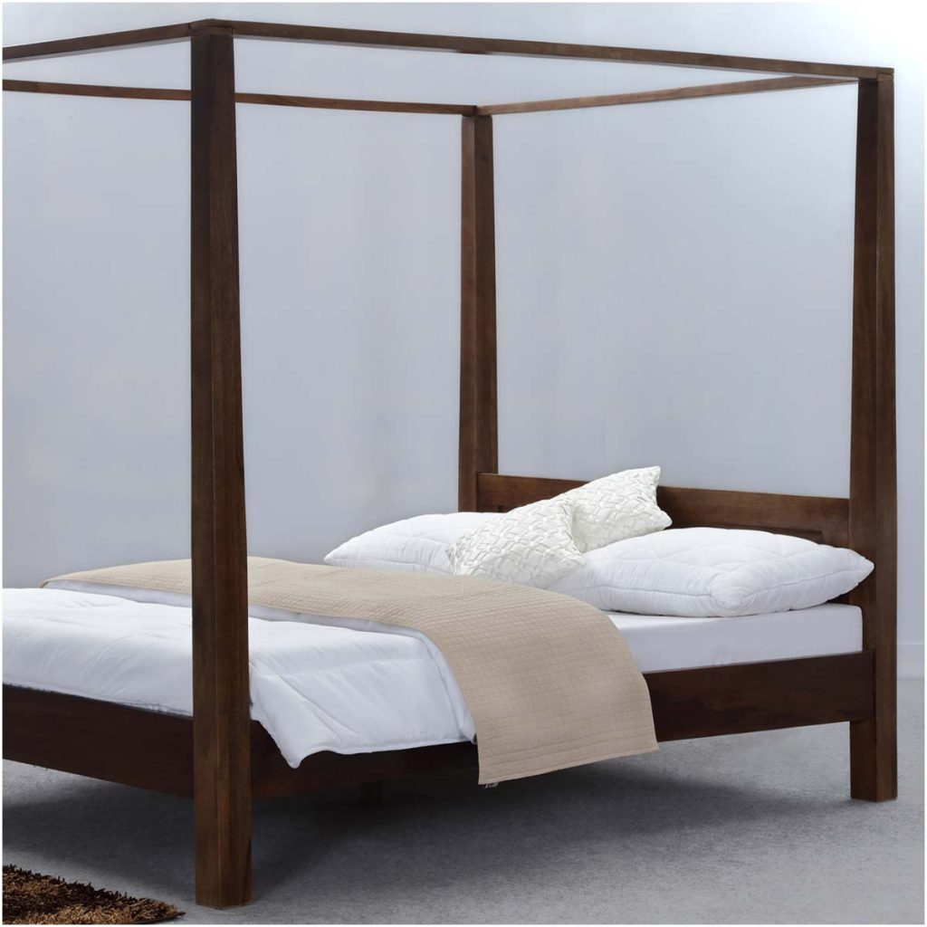ustic Philadelphia Solid Wood Canopy Bed