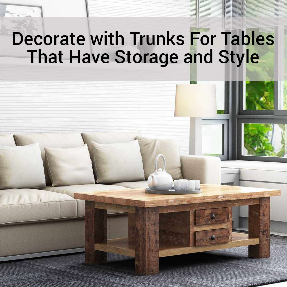 Decorate with Trunks For Tables That Have Storage and StyleSierra ...