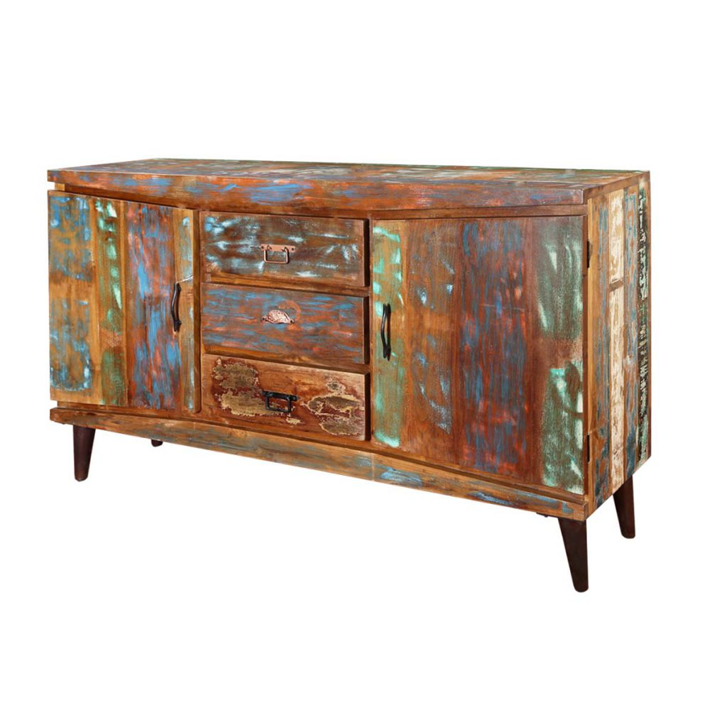Modern Rustic Reclaimed Wood 3-Drawer Accent Sideboard Buffet
