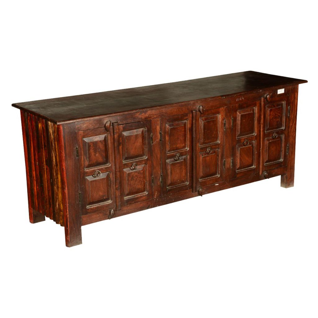 """Shaker Rustic Reclaimed Wood 64"""" TV Stand Media Console"""