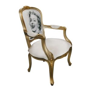 Davis Marilyn Monroe Solid Wood Traditional Royal Arm Chair