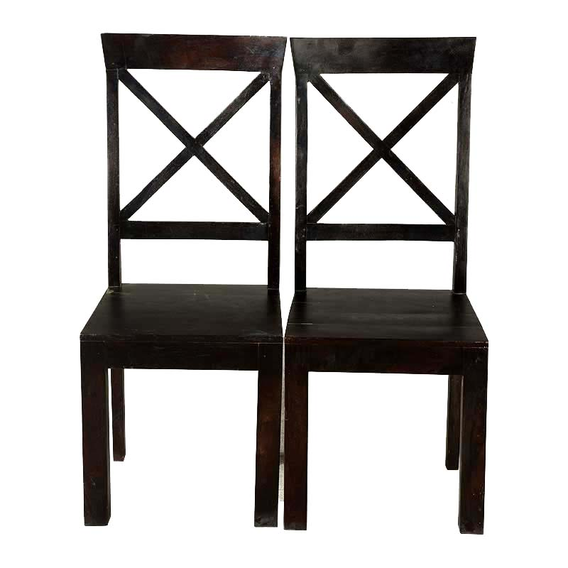 X Square Solid Wood Traditional Dining Chair (Set Of 2)