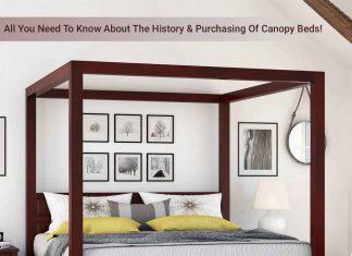 Henderson Transitional Solid Mahogany Wood Platform Canopy Bed