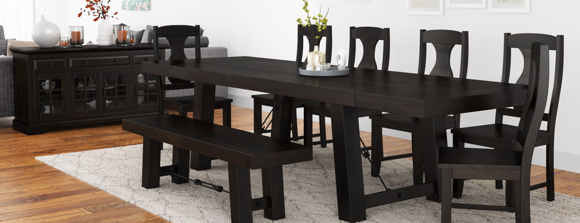 Tirana Rustic Solid Wood 9 Piece Large Extensions Dining Collection
