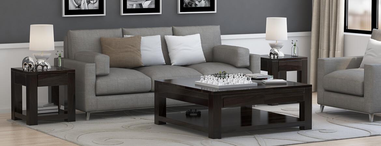 Glencoe Solid Wood 3 Piece Coffee Table Set