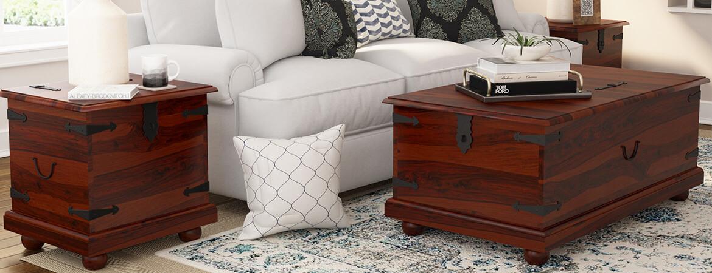 Tremendous Kokanee Solid Wood Storage Trunk Coffee Table 3 Piece Set Beatyapartments Chair Design Images Beatyapartmentscom