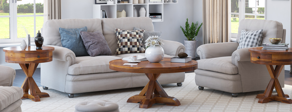 Solid Wood Coffee Table & End Table Sets | Sierra Living Concepts
