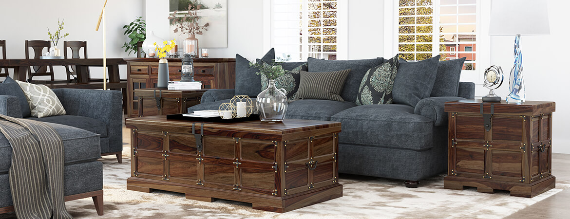 Solid Wood Coffee Table End Table Sets Sierra Living Concepts