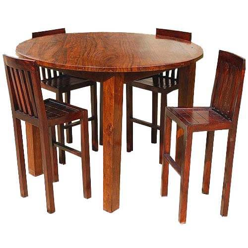sc 1 st  Sierra Living Concepts & Nevada 5 pc Contemporary Counter Height Round Dining Table Chair Set