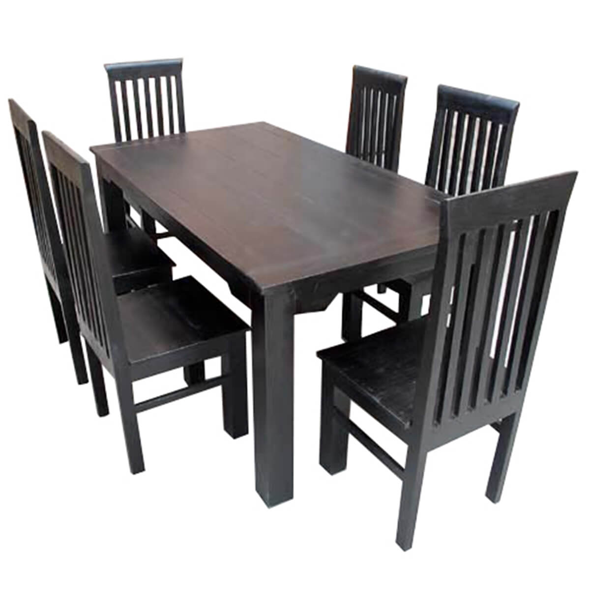 Study Contemporary Solid Rosewood Dining Table and Chair Set