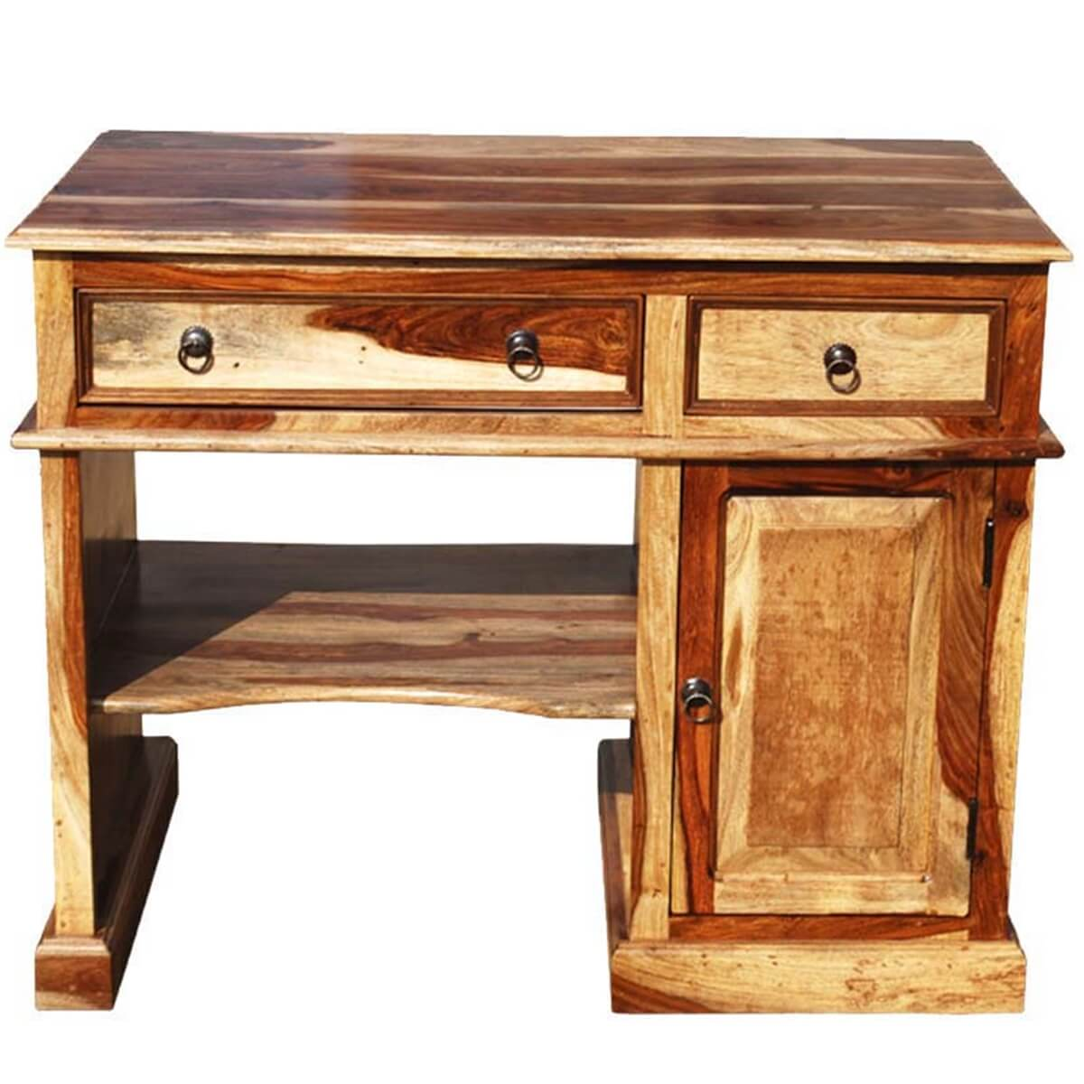 & Solid Wood Computer Desk For Small Space
