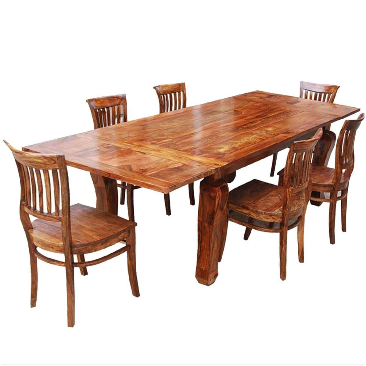 Rustic Lincoln Study Dining Table U0026 6 Barrel Back Chairs W Extension