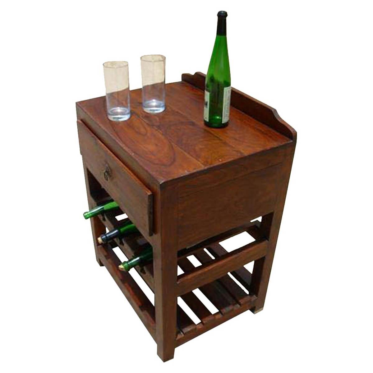 built stylish corner table of rack wine ideas the in
