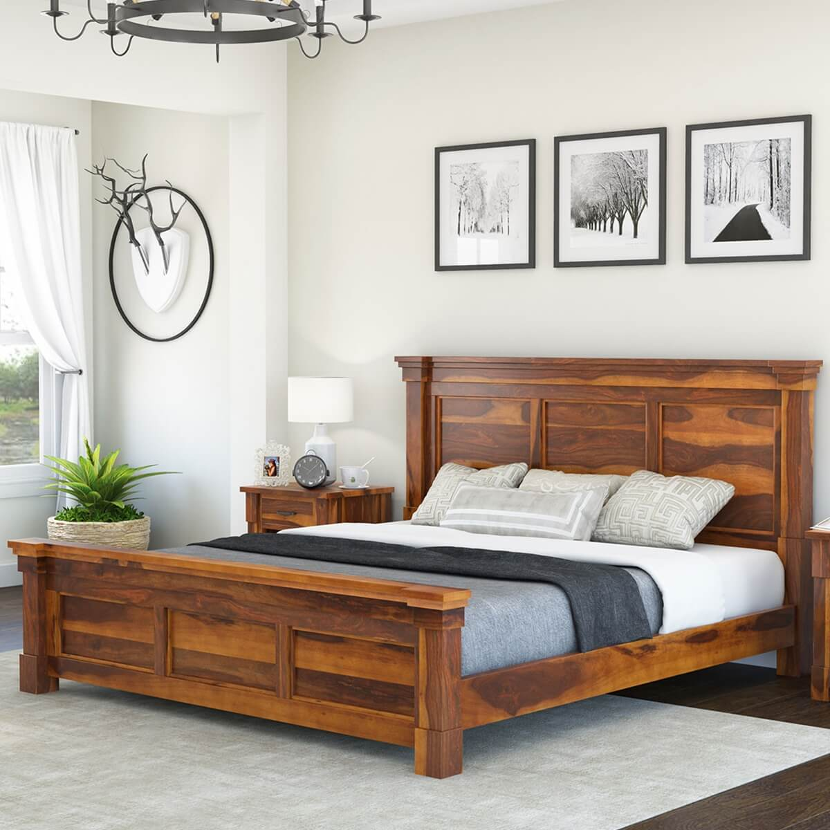 Wooden platform bed reclaimed wood platform bed from Wood platform bed