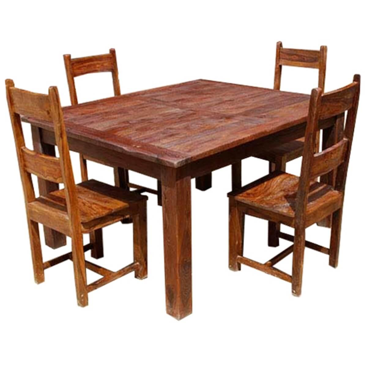 Appalachian Rustic 5pc Solid Wood Kitchen Dinette Set
