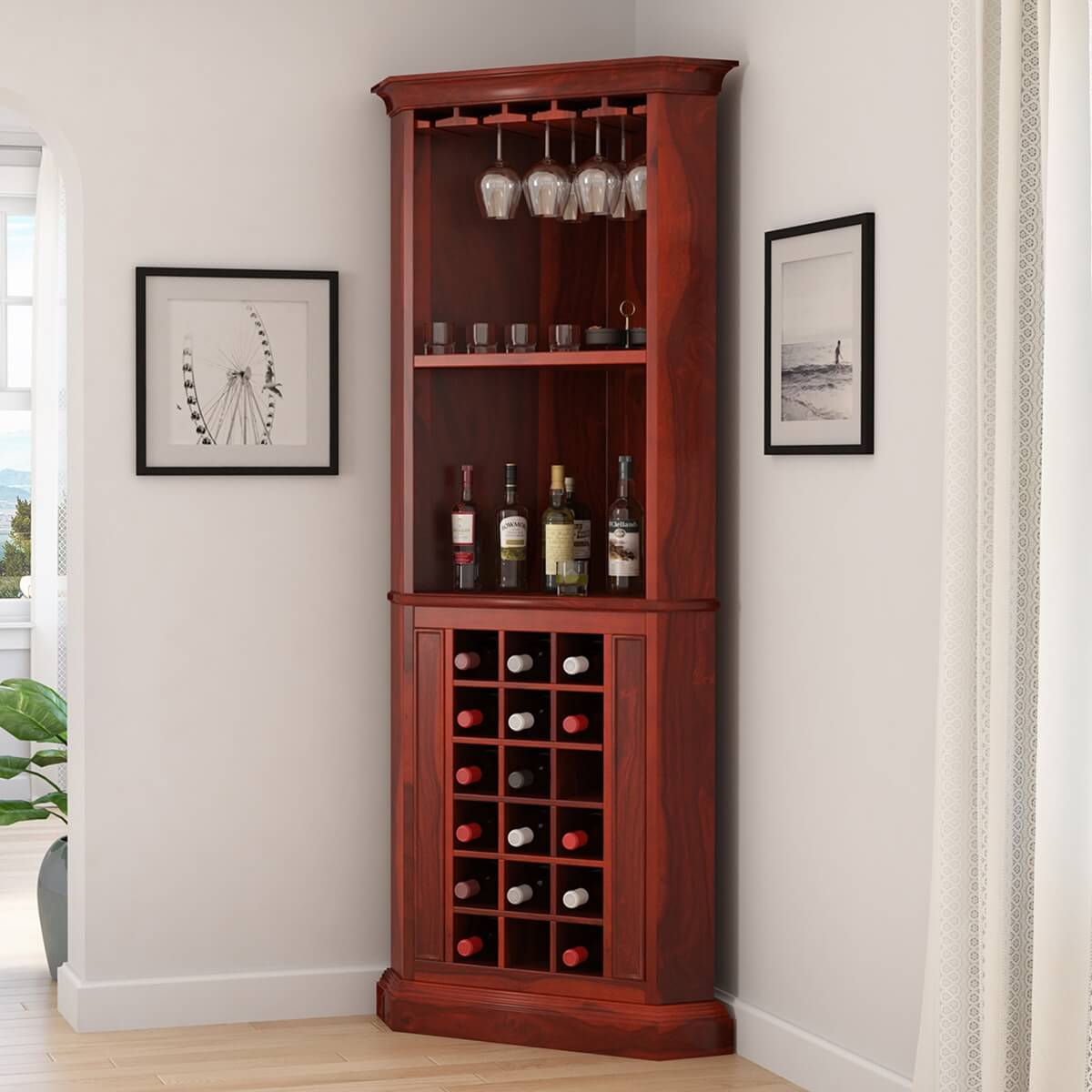 bottles cabinet rack organized of kitchen furniture full plans pub reviews pictures wine rustic bar get table room size all coffee