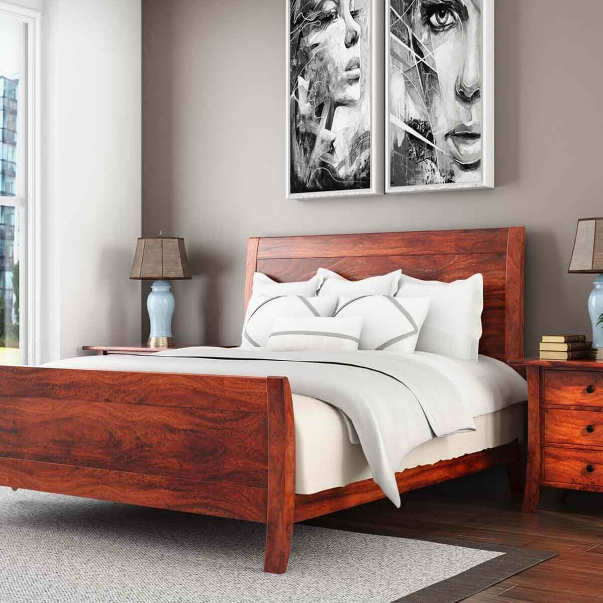 Georgia Modern Solid Wood Handmade Platform Bed