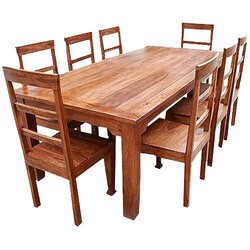 Rustic Furniture Solid Wood Dining Table U0026 Chair Set