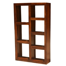 Solid Wood Modern Display Rack Cube Bookcase Shelf Room Divider