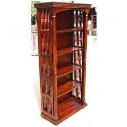 large-wood-5-shelves-book-shelf-dispaly-bookcase-new