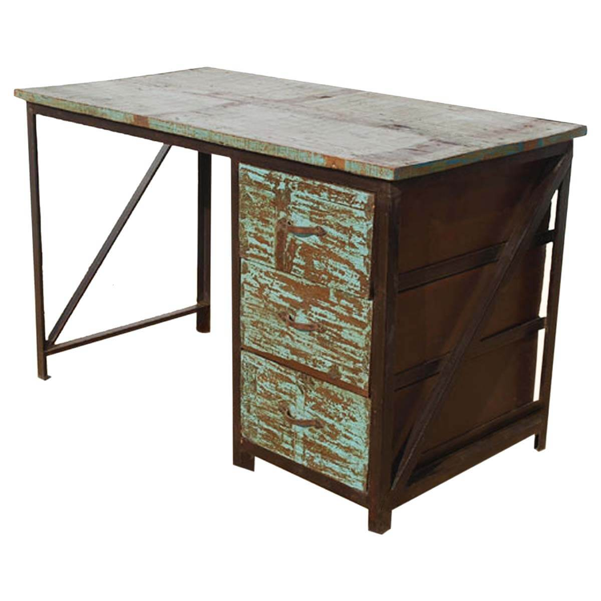 appalachian-industrial-metal-reclaimed-wood-3-drawer-pedestal-desk