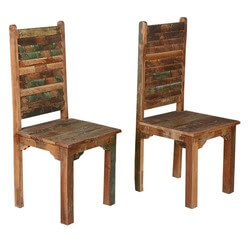 rustic-distressed-reclaimed-wood-multi-color-dining-chairs-set-of-2