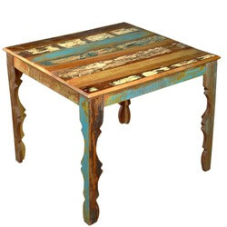 Emejing Reclaimed Wood Square Dining Table Ideas Chynaus chynaus