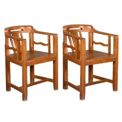contemporary-solid-teak-wood-curved-back-captains-chair