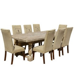 italian-mango-wood-white-dining-table-caf-logo-fabric-chairs