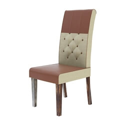 exciting-leather-and-fabric-tufted-parson-dining-chair